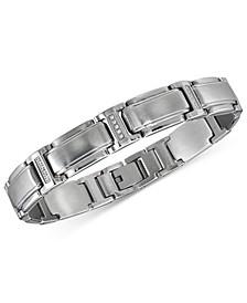 Men's Diamond Link Bracelet (1/10 ct. t.w.) in Stainless Steel