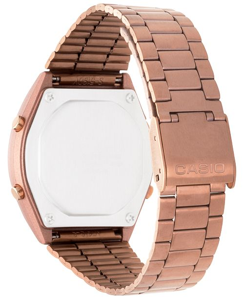 2ebdd23db5a ... Casio Men s Digital Vintage Rose Gold-Tone Stainless Steel Bracelet  Watch 39x39mm B640WC- ...