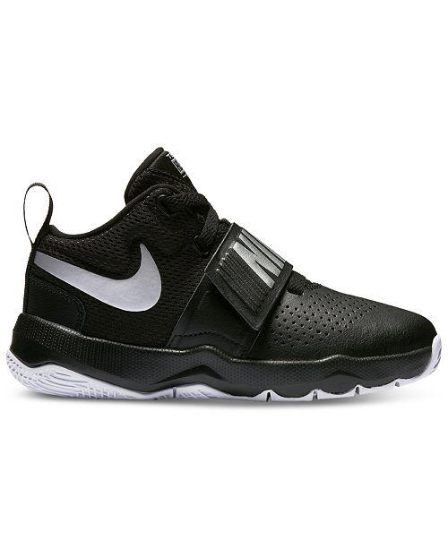 the best attitude 9dce9 c1e2b Nike Little Boys  Team Hustle D8 Basketball Sneakers from Finish ...