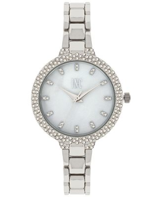 INC International Concepts Women's May Silver-Tone Bracelet Watch 34mm, Only at Macy's