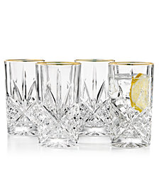 Godinger Dublin Gold Highball Glasses, Set of 4