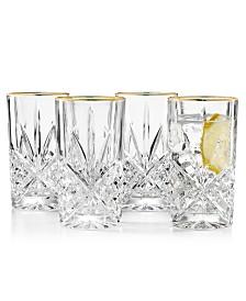 Godinger Dublin Gold Highball Glasses, Set of 4