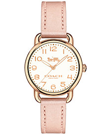 COACH Women's Delancey Blush Leather Strap Watch 28mm 14502750