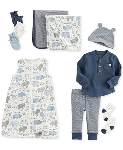 Carter's Mittens, Swaddle Blankets, Sleep Bag & Clothing Set, Baby Boys
