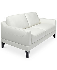 "CLOSEOUT! Emilda 62"" Leather Loveseat, Created for Macy's"