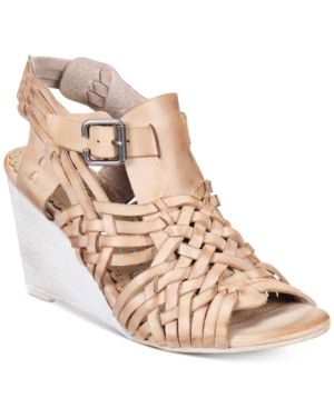 Naughty Monkey Dually Noted Woven Wedge Sandals Women