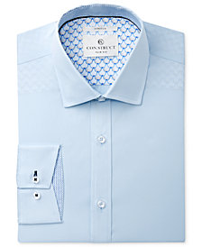 Con.Struct Men's Slim-Fit Stretch Mist Poplin Stretch Dress Shirt