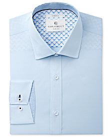 Con.Struct Men's Slim-Fit Stretch Mist Poplin Stretch Dress Shirt