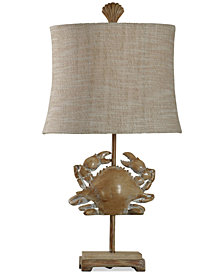 StyleCraft Crab Fossil Table Lamp
