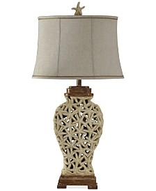 StyleCraft Starfish Weave Table Lamp