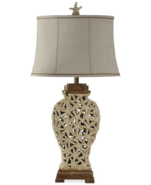 StyleCraft Starfish Weave Table Lamp