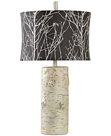 StyleCraft Willow Log Table Lamp