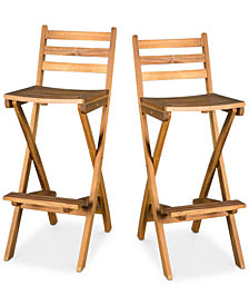 Horley Set of 2 Bar Stools, Quick Ship