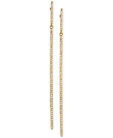 D'ro by EFFY® Diamond Long Linear Drop Earrings (1/3 ct. t.w.) in 14k Gold