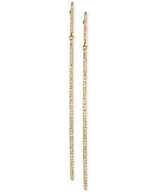 D'ro by EFFY® Diamond Long Linear Drop Earrings (1/3 ct. t.w.) in 14k Gold