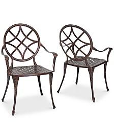 Reynard Set of 2 Dining Chairs, Quick Ship