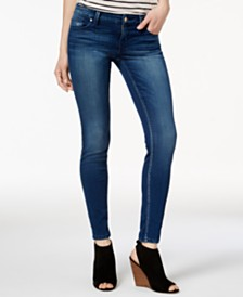 GUESS Medium Wash Low-Rise Skinny Jeans