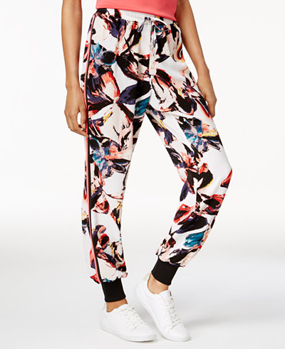 Bar III Printed Jogger Pants, Created for Macy's