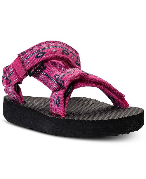 86bfbf0d72a1 ... Teva Toddler Girls  Original Universal Athletic Flip Flop Sandals from  Finish ...