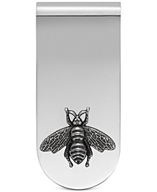 Men's Sterling Silver Bee Motif Money Clip