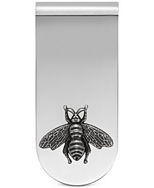 Gucci Men's Sterling Silver Bee Motif Money Clip YBF45690700100U
