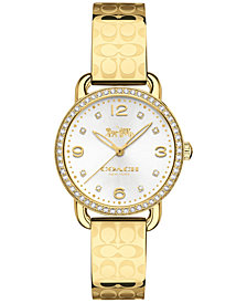 COACH Women's Delancey Gold-Tone Bracelet Watch 28mm 14502766