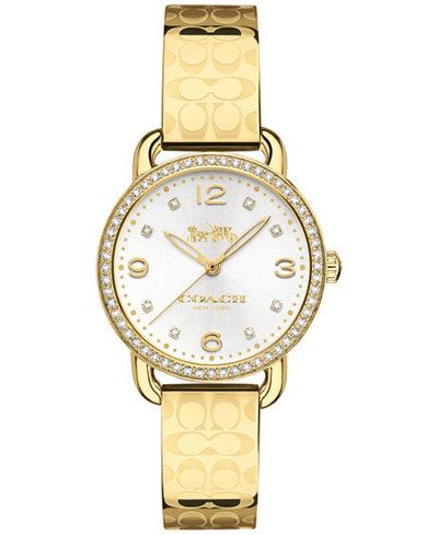 COACH Women's Delancey Gold-Tone Bracelet Watch 28mm 14502766