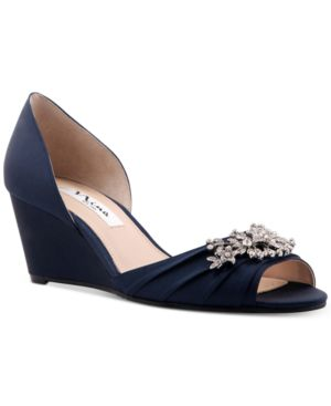 EMIKO EMBELLISHED EVENING WEDGES WOMEN'S SHOES