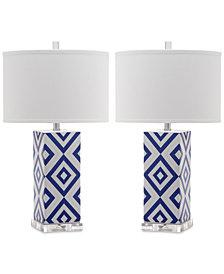 Safavieh Set of 2 Diamonds Table Lamps