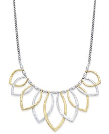 Two-Tone Petal Statement Necklace