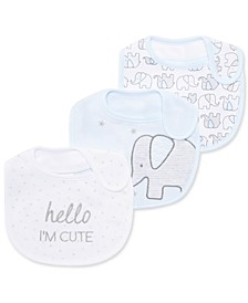 Baby Boys 3-Pk. Elephant Bibs, Created for Macy's