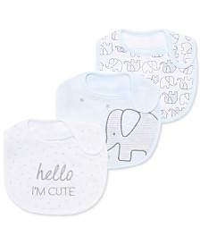 First Impressions Baby Boys 3-Pk. Elephant Bibs, Created for Macy's