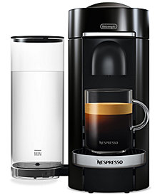 Nespresso by De'Longhi Black VertuoPlus Deluxe Coffee and Espresso Machine