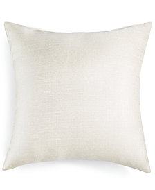 "LAST ACT! Hallmart Collectibles Snow Textured 18"" Square Decorative Pillow"