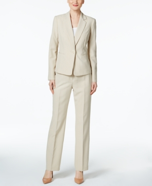 Le Suit Pinstriped Pantsuit...