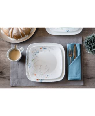 main image ...  sc 1 st  Macyu0027s & Corelle Boutique Adlyn Square 16-Piece Dinnerware Set - Dinnerware ...