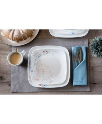 main image ...  sc 1 st  Macyu0027s & Corelle Boutique Adlyn Square 16-Piece Dinnerware Set - Dinnerware ...