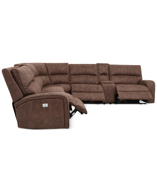 Brilliant Limited Availability Brant 6 Pc Fabric Sectional Sofa With 3 Power Recliners Power Headrests Console And Usb Power Outlet Uwap Interior Chair Design Uwaporg