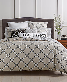 Charter Club Damask Designs Pima Cotton Outlined Geo 3-Pc. Full/Queen Duvet Cover Set, Created for Macy's