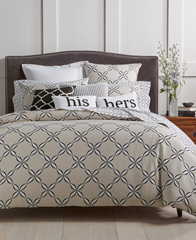 Charter Club Damask Designs Outlined Geo Bedding