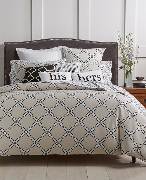 Charter Club CLOSEOUT! Outlined Geo Bedding Collection, Created for Macy's