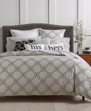 Image of Charter Club Damask Designs Outlined Geo 2-Pc. Twin Comforter Set, Created for Macy's Bedding