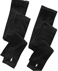 Polo Footless Tights 2 Pack, Little Girls & Big Girls