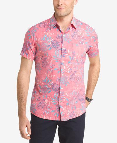 IZOD Men's Printed Shirt - Casual Button-Down Shirts - Men - Macy's