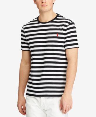 Polo Ralph Lauren Men\u0027s Custom Slim Fit Striped Cotton T-Shirt