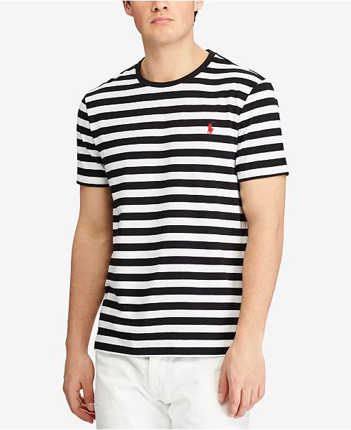 Slim Fit Polo Striped T Lauren Ralph Shirt Cotton Men's Custom eYWH9bED2I