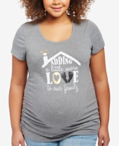 7d572f0f435a6 Motherhood Maternity Plus Size Graphic T-Shirt