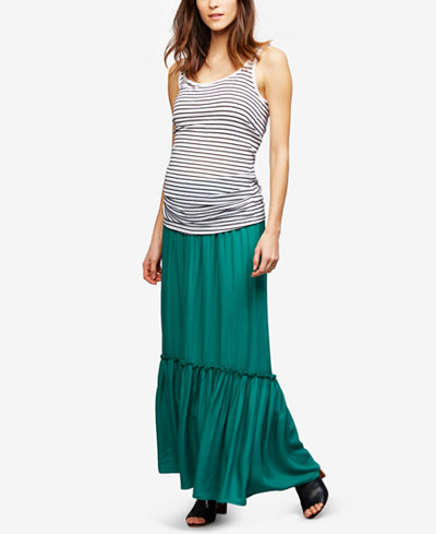 A Pea In The Pod Maternity Smocked Maxi Skirt