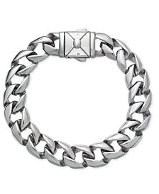 Sutton by Rhona Sutton Men's Stainless Steel Heavy Link Chain Bracelet