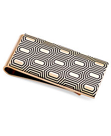 Sutton by Rhona Sutton Men's Gold-Tone Decorative Money Clip